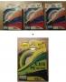 4 Stk. Angelschnur Fluor/Geflochten